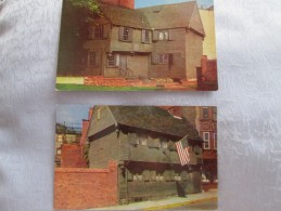 THE OLDEST FRAM BUILDING IN BOSTON . 2 CARTES - Autres