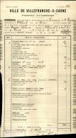 Thématique « POMPES FUNEBRES » - Document Commercial (petit Format) à Entête De Lettre – A Voir - N° 19067 - Petits Métiers