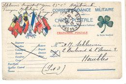 Carte Postale Franchise Militaire Postée D'Hazebrouck ( 5ème Génie ) Vers Houilles, Troupes Mobilisées 1915 - Guerre 1914-18