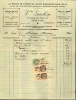 Thématique « POMPES FUNEBRES » - Document Commercial (petit Format) à Entête De Lettre – A Voir - N° 19072 - Petits Métiers