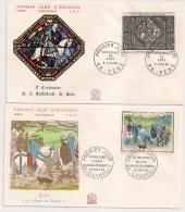 2 Enveloppes DUC DE BERRY ET CATHEDRALE DE SENS. 1965.