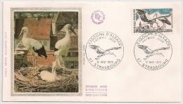 Enveloppe CIGOGNE D'ALSACE STRASBOURG. 1973.