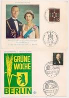 2 SONDERKARTES : ELIZABETH II And GRUNE WOCHE BERLIN. - Allemagne
