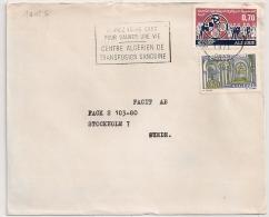 ORAN Algérie Flamme Centre Algérien De Transfusion Sanguine Pour La SUEDE. 1971 - Algérie (1962-...)