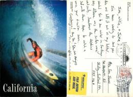 Surfer, California, United States Postcard Posted 2001 Stamp - Etats-Unis
