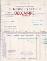 Facture   Ancienne -  FOUGERES  (ILLE Et VILAINE) - H. REHAULT Et Fils -  Manufacture De Chaussures - Textile & Clothing