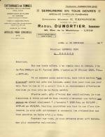 Thématique « POMPES FUNEBRES » - Document Commercial (petit Format) à Entête De Lettre – A Voir - N° 19077 - Petits Métiers