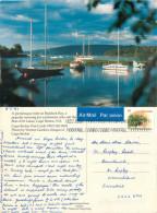 Baddeck Bay, Cape Breton Island, Nova Scotia, Canada Postcard Posted 1997 Stamp - Cape Breton