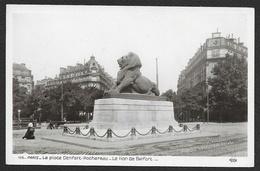 PARIS 14° Rare Le Lion De Belfort Place Denfert Rochereau (Rose) (75) - Arrondissement: 14