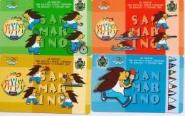 SAN MARINO  PHONECARD GAMES OF SMALL COUNTRIES-RSM 65,66,67,68-10000pcs-28/5/01-MINT - San Marino