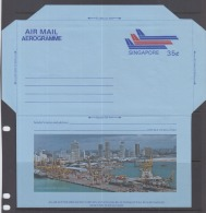 Singapore 1979 Aerogramme, Container Port Terminal(Unused) - Singapur (1959-...)
