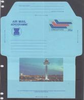 Singapore 1983 Aerogramme, Changi Airport(Unused) - Singapur (1959-...)