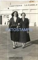 58878 ARGENTINA NECOCHEA BUENOS AIRES CONFITERIA LA RAMBLA & COSTUMES WOMAN YEAR 1951 PHOTO NO POSTAL TYPE POSTCARD - Fotografie