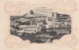 Avignon - Villeneuve-Lès-Avignon - Vue Générale Et Le Fort    (carte Gaufrée) - Forcalquier