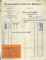 Thématique « POMPES FUNEBRES » - Document Commercial (petit Format) à Entête De Lettre – A Voir - N° 19087 - Petits Métiers