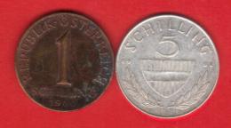 AUTRICHE OSTERREICH  1 S De 1960, 5 S De 1961  **2 Scannes - Oostenrijk