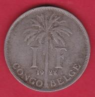 Congo Belge - 1 Franc 1922 - Congo (Belge) & Ruanda-Urundi