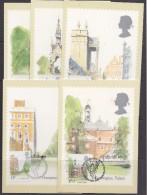 Great Britain 1980 London Landmarks 5v 5 Maxicards (32672) - Maximumkaarten