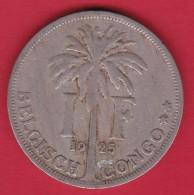 Congo Belge - 1 Franc 1925 - 1910-1934: Albert I