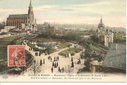 Environs De Rouen - Bonsecours, L'Eglise Et Le Monument De Jeanne D'Arc - Rouen