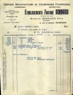Thématique « POMPES FUNEBRES » - Document Commercial (petit Format) à Entête De Lettre – A Voir - N° 19091 - Old Professions