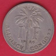 Congo Belge - 1 Franc 1926 - Congo (Belgian) & Ruanda-Urundi
