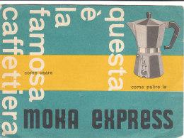 B1780 - ISTRUZIONI Anni '60 CAFFETTIERA MOKA EXPRESS BIALETTI - CUSINALLO - Altri
