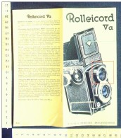 B1782 - Brochure Illustrata MACCHINA FOTOGRAFICA ROLLEICORD Vintage - Macchine Fotografiche