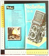 B1783 - Brochure Illustrata MACCHINA FOTOGRAFICA ROLLEIFLEX Vintage - Macchine Fotografiche