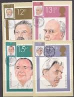 Great Britain 1980 British Conductors / Music 4v 4 Maxicards (32673) - Maximumkaarten