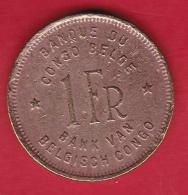 Congo Belge - 1 Franc 1949 - 1945-1951: Régence
