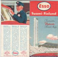 B1793 - CARTINA ROAD MAP ESSO 1952 - SUOMI FINLAND - OLIMPIADI HELSINKI - Carte Stradali