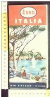 B1794 - CARTINA ROAD MAP ESSO ITALIA 1956 - ILLUSTRAZIONE PARAGGI S.MARGHERITA LIGURE - STAZIONE POMPE BENZINA - Carte Stradali