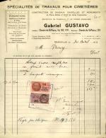 Thématique « POMPES FUNEBRES » - Document Commercial (petit Format) à Entête De Lettre – A Voir - N° 19094 - Old Professions