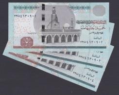 Egypt - 2015 - Lot Of 3 Consecutive Notes - ( 5 EGP - Pick-63 - Sign #23 - TAREK AMER ) - UNC - Egypt