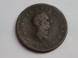 GREAT BRITAIN  HALF PENNY 1807 GEORGE III KM 662 - B. 1/2 Penny