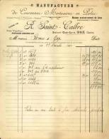 Thématique « POMPES FUNEBRES » - Document Commercial (petit Format) à Entête De Lettre – A Voir - N° 19100 - Petits Métiers