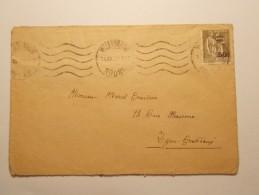 Marcophilie  Cachet Lettre Obliteration Timbre   - VILLEURBANNE - Timbre N°298 - 1931 (817) - Marcofilia (sobres)