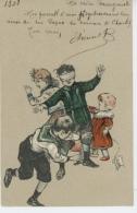 ENFANTS - LITTLE GIRL - MAEDCHEN - Jolie Carte Fantaisie Gaufrée Enfants Jouant à Colin Maillard (embossed Postcard) - Disegni Infantili