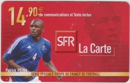 Télécarte :   Mobicarte  SFR  Football  Patrick  Vieira - Frankreich