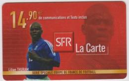 Télécarte :   Mobicarte  SFR  Football Lilian  Thuram - Frankreich