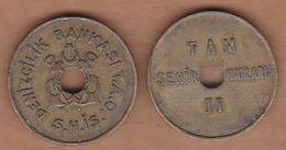 AC -  ISTANBUL MARITIME TRANSPORT FERRY FULL TOKEN BRASS 25.3 Mm - Jetons & Médailles