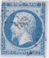 N° 14 Af  / PC   183   AUPS      /  VAR      LOT 14112     INDICE 8   Cote 45€  +VARIETE - 1853-1860 Napoleon III