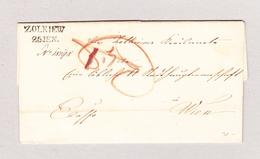 Ukraine ZOLKIEW 25 JEN (1849) Vorphila Brief Ohne Inhalt Nach Wien - Ukraine