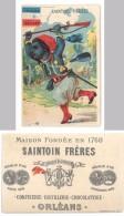 Chromo Saintoin Frères, Orléans, Confiserie, Distillerie, Chocolaterie - Turcos 3 Régiments ( Tirailleur Algérien ) - Chocolat