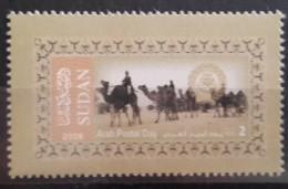 Sudan 2008 Stamp MNH - Arab Postal Day 2 SDG - Touareq, Camels In The Desert - Sudan (1954-...)