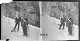 Photographie - Plaque De Verre - Route & Force De Police Ou Gendarmerie (B 513-1, Lot 3) - Diapositiva Su Vetro