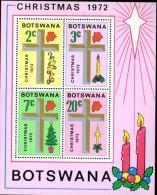 BF97 - Botswana 1972 Christmas MS,   ***  MNH - Botswana (1966-...)