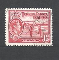 TURKS & CAICOS    1938 King George VI USED - Turks E Caicos