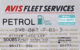 Transport Card - AVIS Fleet Services, Petrol, Auto, Afrique Du Sud / South Africa, Magnetic Carte - Moteurs